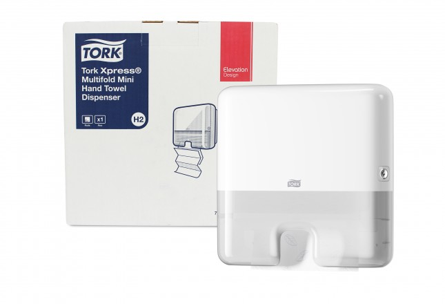 DISPENSER PAPEL TOALHA INTERFOLHA MINI BRANCO TORK 552100