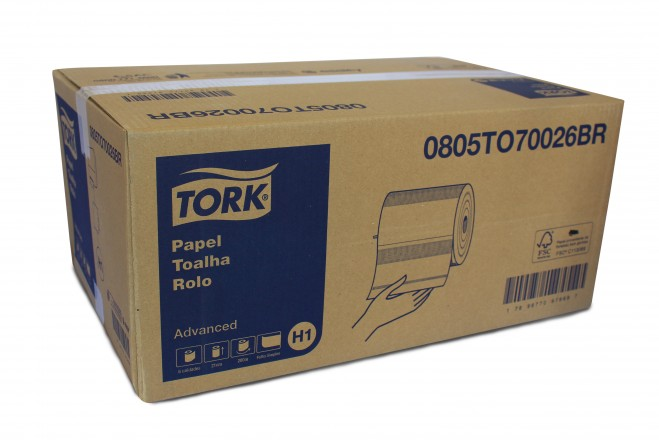 PAPEL TOALHA BOBINA 20X200X6 SIMPLES TORK ADVANCED 70026BR
