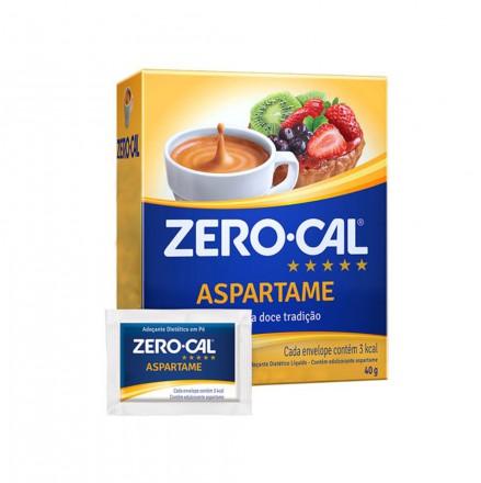 ADOCANTE EM PO ASPARTAME ZERO CAL C/ 50 ENVELOPES C/ 0,8 GR