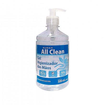 ALCOOL GEL P/ MAOS ANTI SEPTICO PUMP 500 ML AUDAX 111127